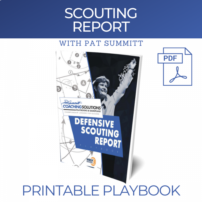 DEFENSIVE SCOUTING REPORT with Pat Summitt | Printable Playbook