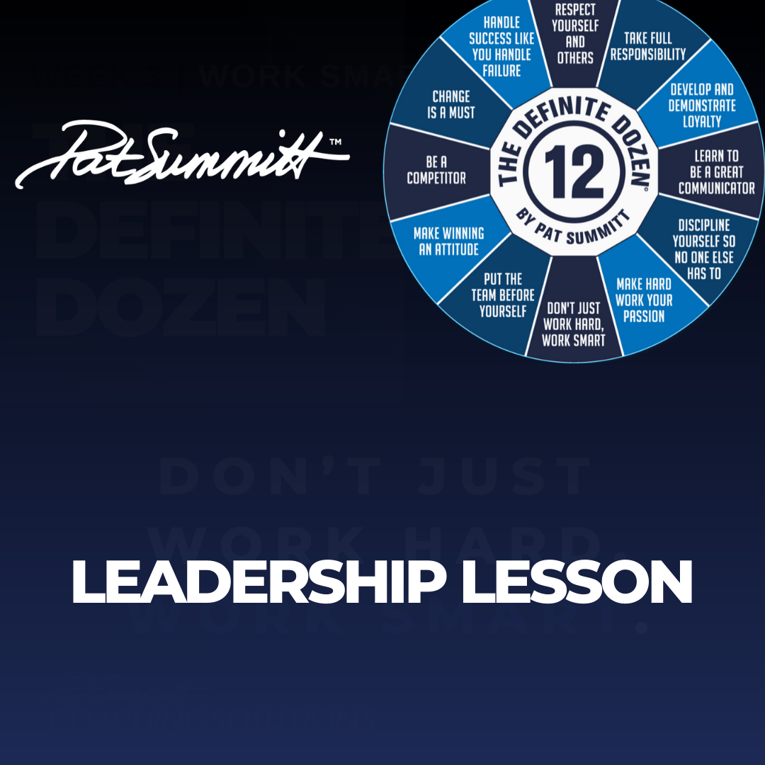 LEADERSHIP LESSON: WEEK FOUR